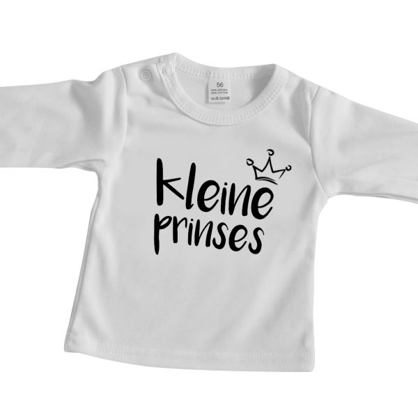 Babyshirt wit lange mouw kleine princes