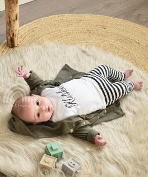 baby vestje oversized legergroen