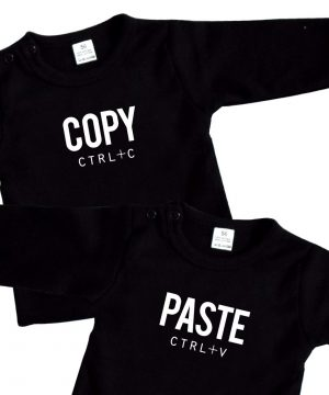 baby shirts tweeling Copy Paste