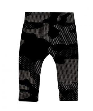 Baby broekje zwart legerprint