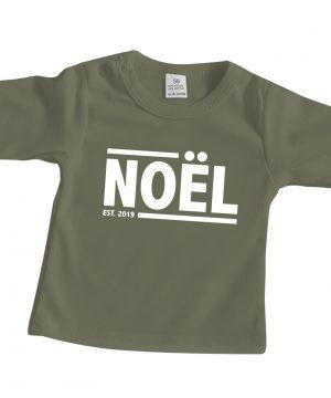 Baby shirt met naam Noel