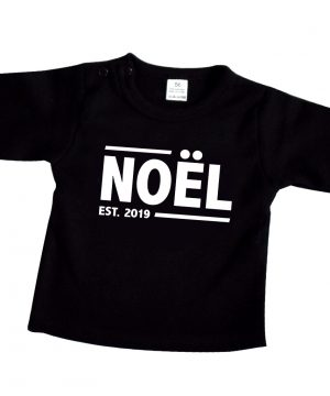 Kinder Shirt met naam zwart