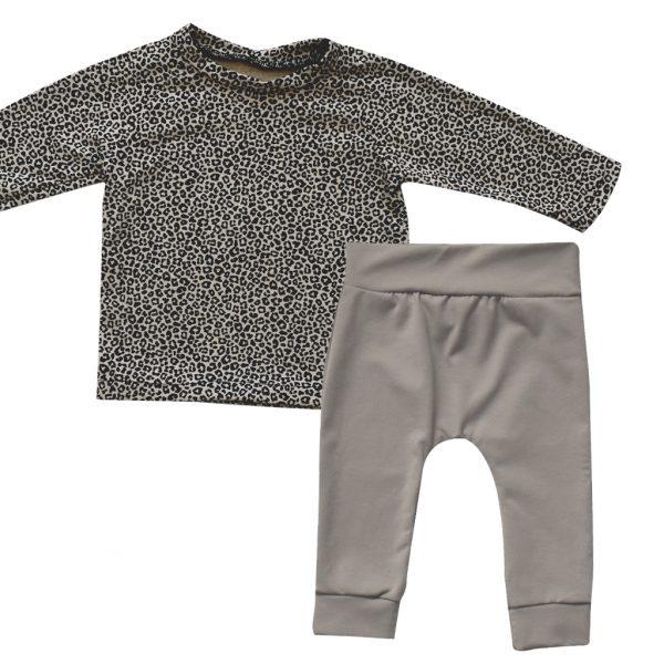 Leopard sand baby kledingset