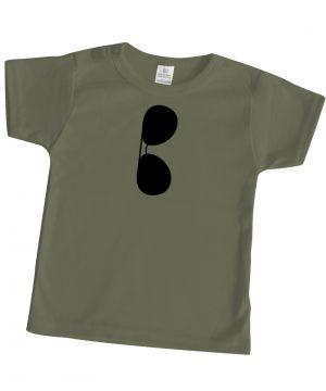 korte mouwen babyshirt groen