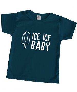 baby shirt petrol met korte mouw