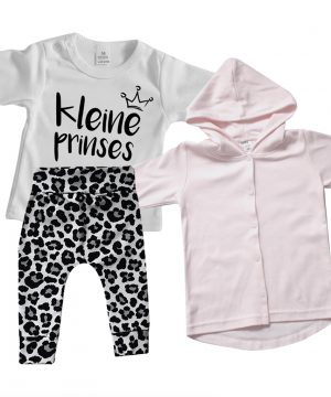baby outfit leopard kleine prinses