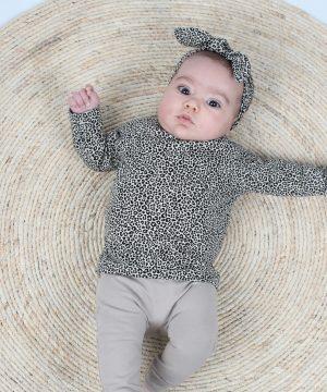 Leopard sand baby kledingset Jalyssa
