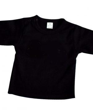 zwarte baby longsleeve effen