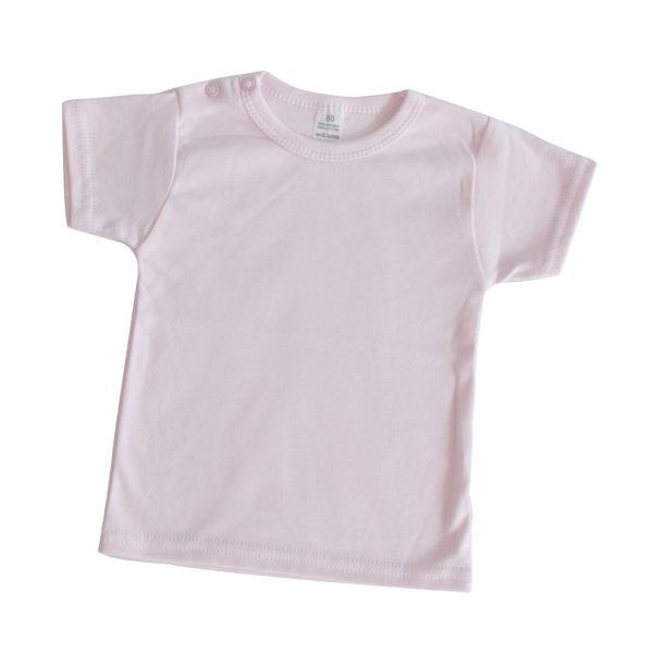 Basic shirt baby lichtroze