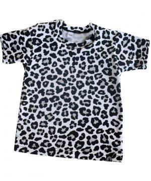 Panter shirt baby zwart/wit