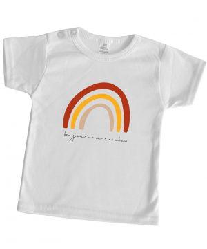 baby shirt korte mouw rainbow