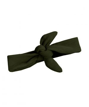 rib haarbandje groen