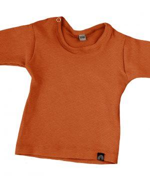 baby shirt rib cognac