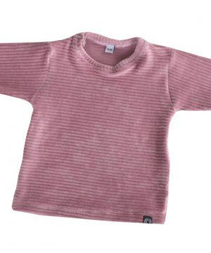 rib shirtje baby corduroy roze