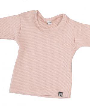 rib shirt roze