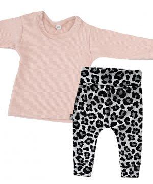 newborn outfit roze panter