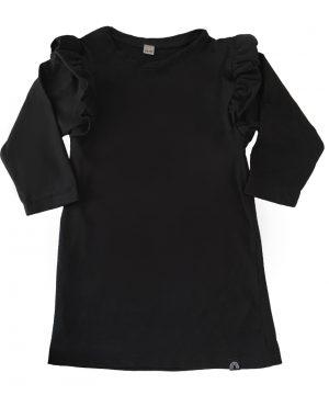 baby jurkje zwart met ruffles