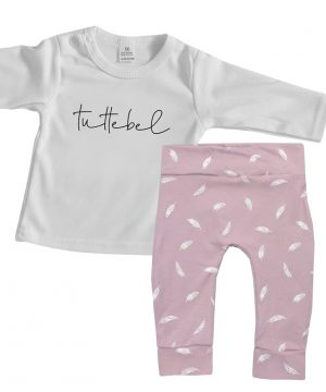 Baby outfit roze 2 delig