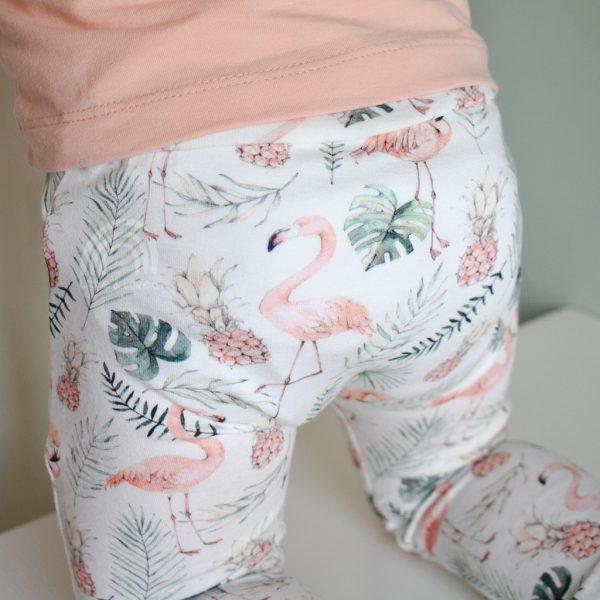 flamingo baby broekje