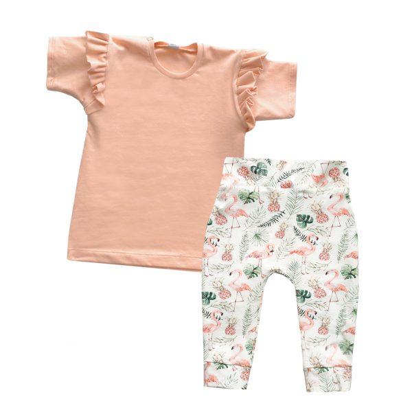 meisjes outfit flamingo roze
